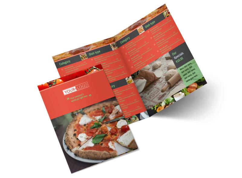 Delicious Pizza Menu Bi-Fold Brochure Template 2