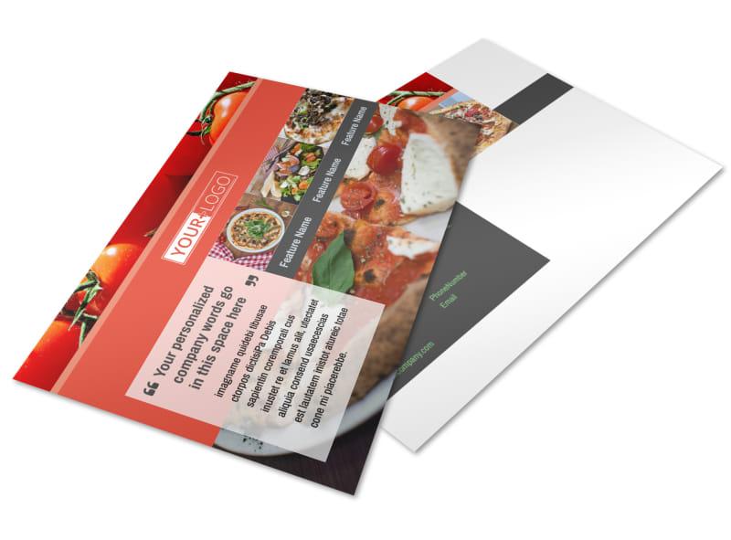 Delicious Pizza Menu Postcard Template 2