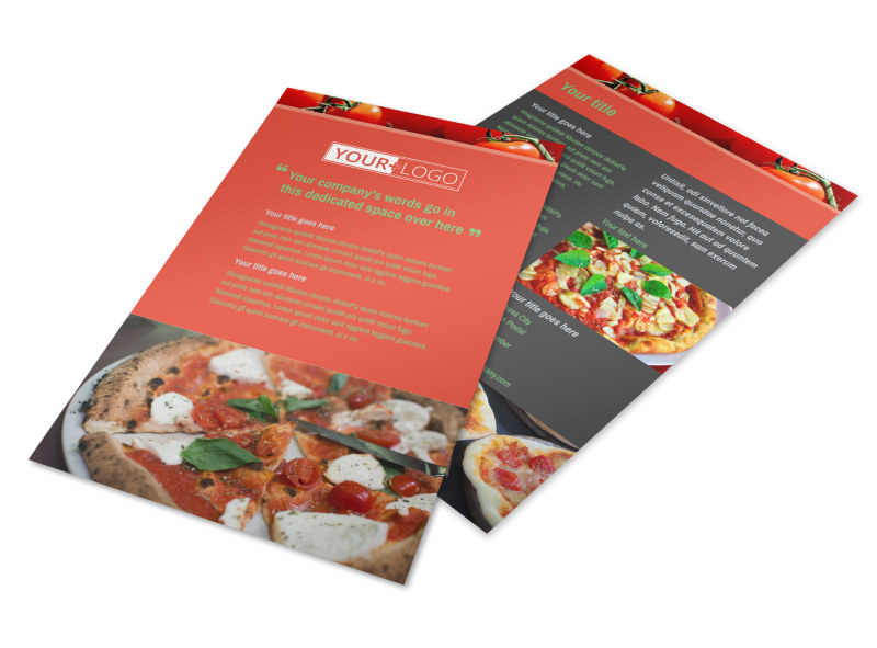 Delicious Pizza Menu Flyer Template 3