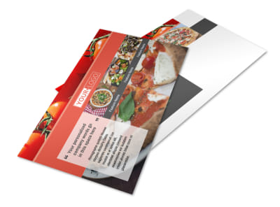 Delicious Pizza Menu Postcard Template