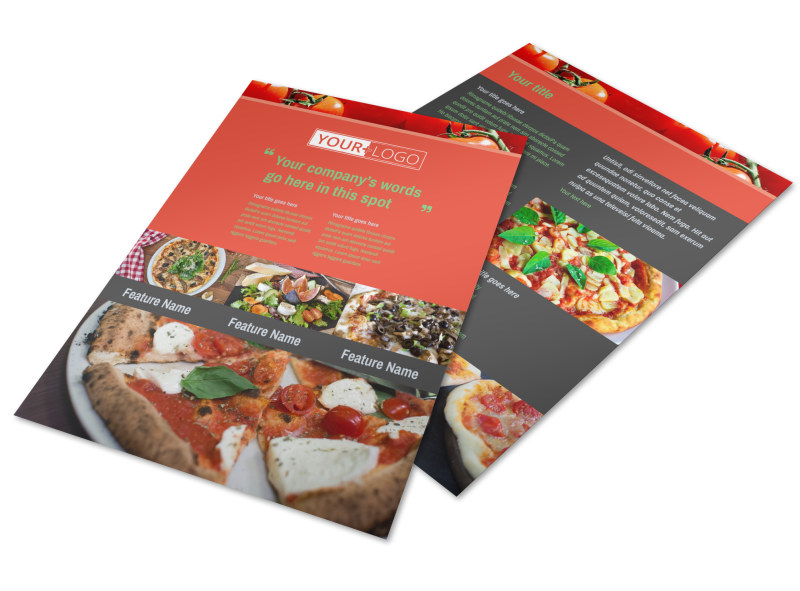 Delicious Pizza Menu Flyer Template