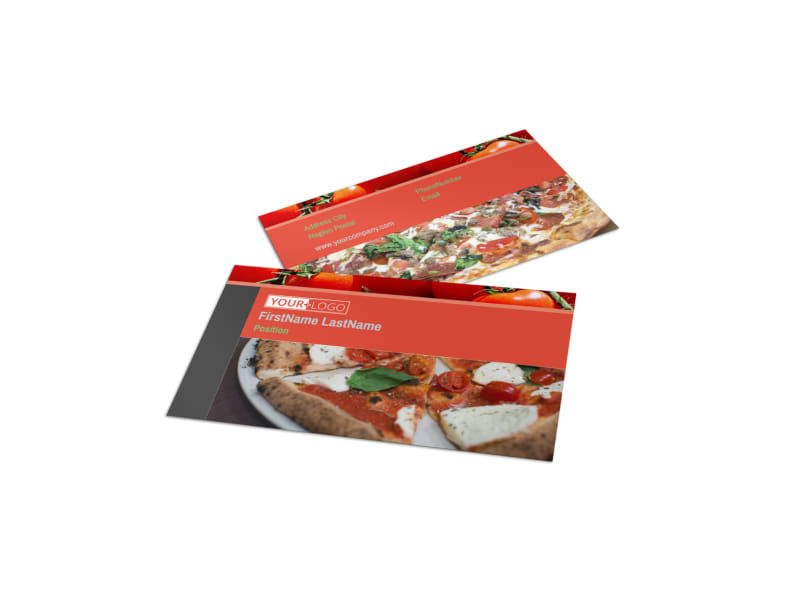 Delicious Pizza Menu Business Card Template