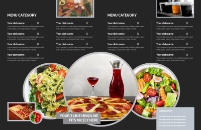 Awesome Pizza Restaurant Brochure Template Preview 2