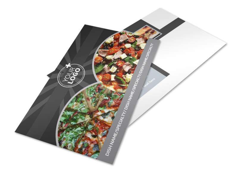 Awesome Pizza Restaurant Postcard Template 2