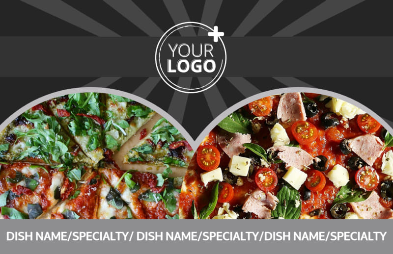 Awesome Pizza Restaurant Postcard Template Preview 2