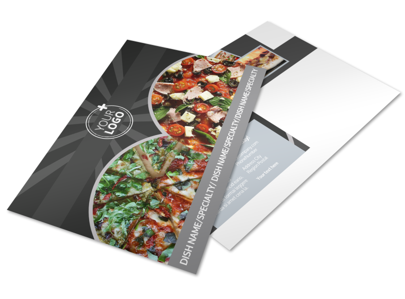 Awesome Pizza Restaurant Postcard Template Preview 1