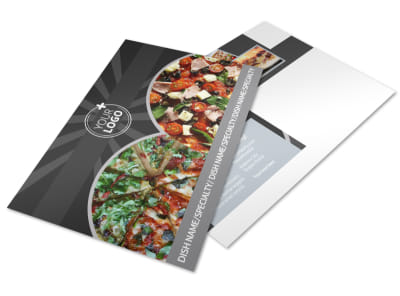 Awesome Pizza Restaurant Postcard Template preview