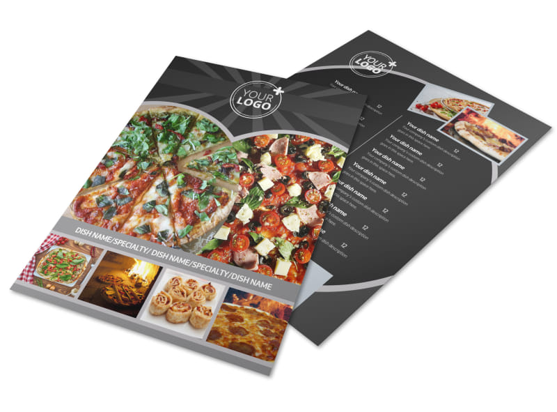 awesome pizza restaurant flyer template 3