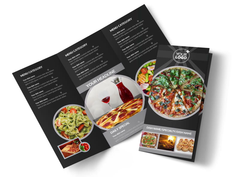 Awesome Pizza Restaurant Brochure Template  Mycreativeshop