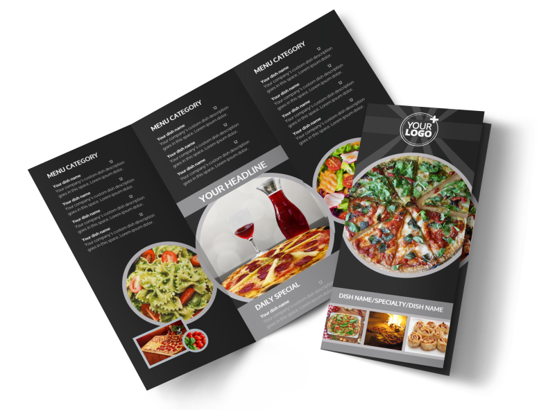 Awesome Pizza Restaurant Brochure Template Preview 1