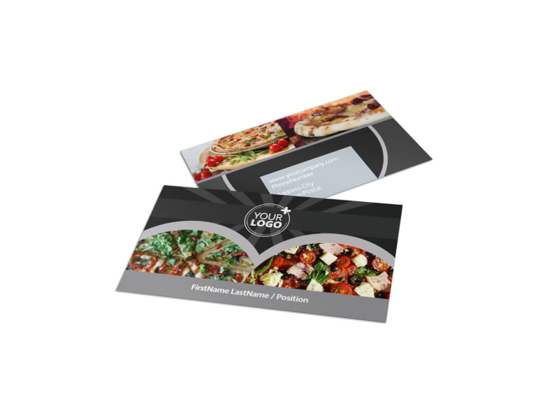 Awesome pizza restaurant business card template mycreativeshop awesome pizza restaurant business card template flashek