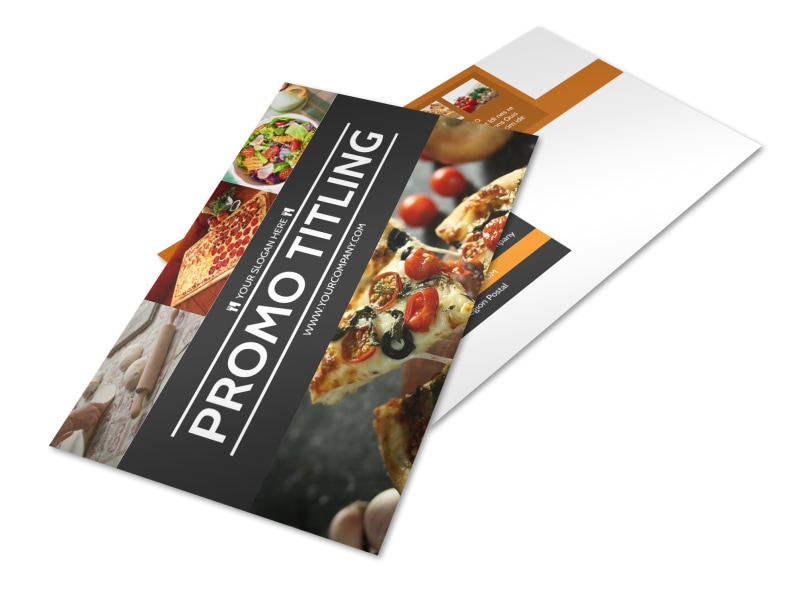Famous Pizza Menu Postcard Template 2