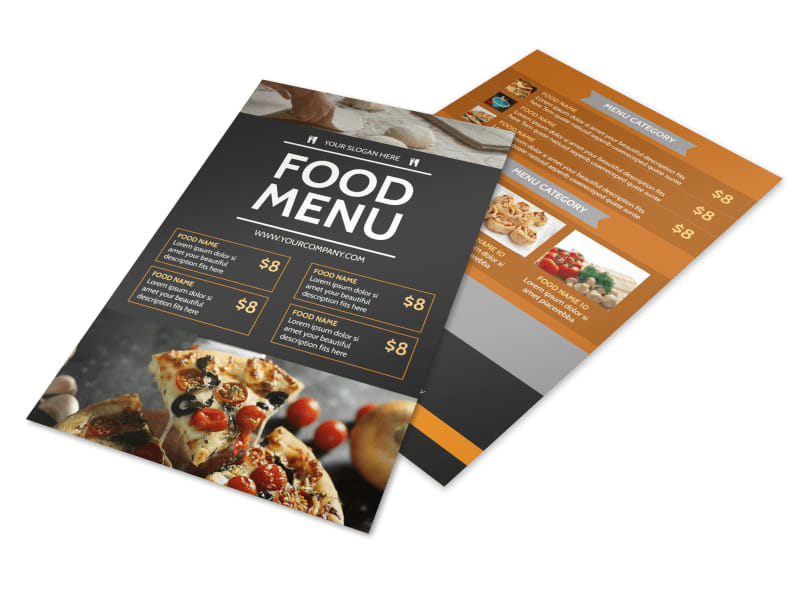 Famous Pizza Menu Flyer Template 3