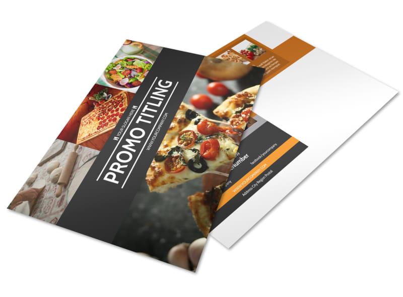 Famous Pizza Menu Postcard Template