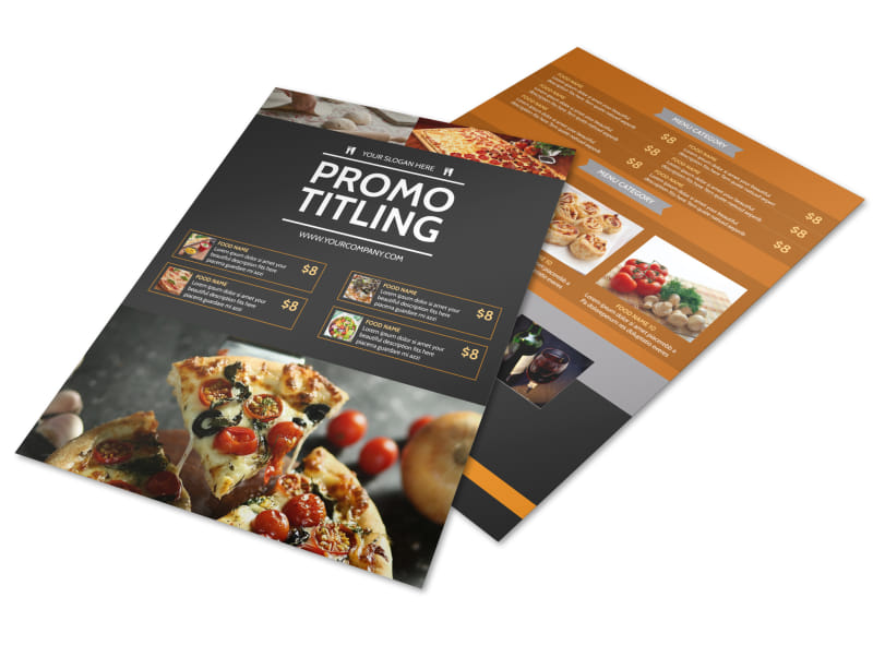 famous pizza menu flyer template