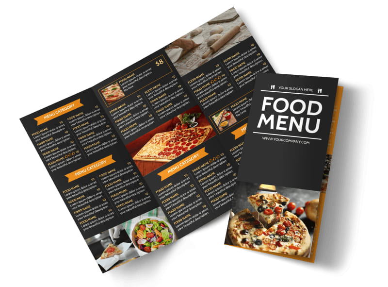 Famous Pizza Menu Brochure Template MyCreativeShop - Menu brochure template