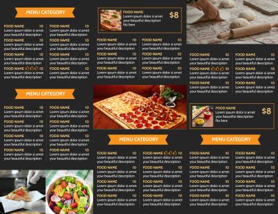 Famous Pizza Menu Brochure Template Preview 2
