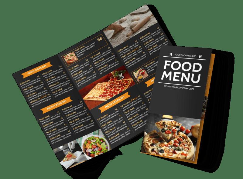 Famous Pizza Menu Brochure Template Preview 1