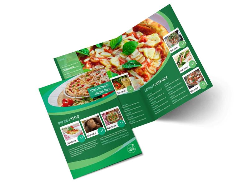 Italian Pizza Restaurant Bi-Fold Brochure Template 2