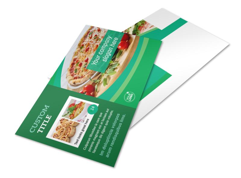 Italian Pizza Restaurant Postcard Template 2