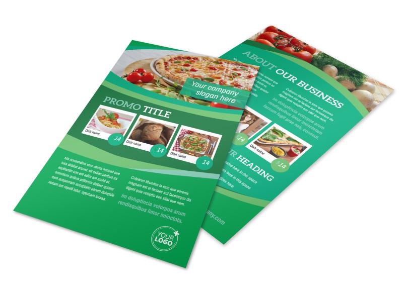 Italian Pizza Restaurant Flyer Template 3