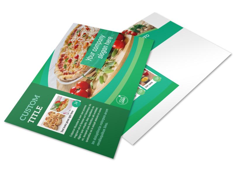 Italian Pizza Restaurant Postcard Template
