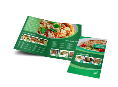 Italian Pizza Restaurant Bi-Fold Brochure Template