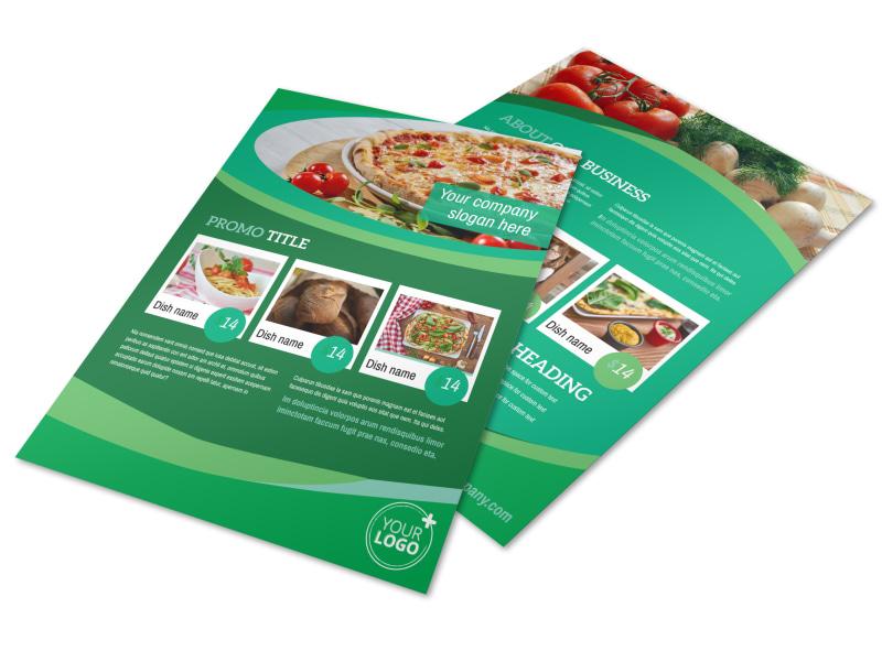 Italian Pizza Restaurant Flyer Template