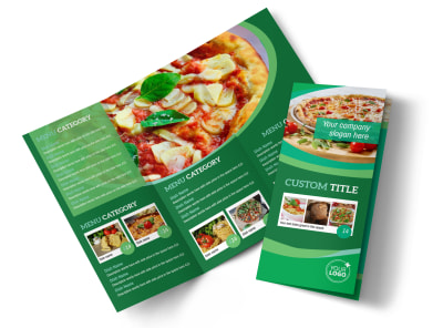 Italian Pizza Restaurant Tri-Fold Brochure Template