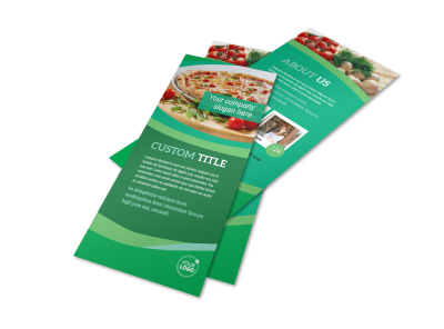 Italian Pizza Restaurant Flyer Template 2 preview