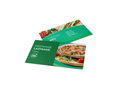 Italian Pizza Restaurant Business Card Template preview