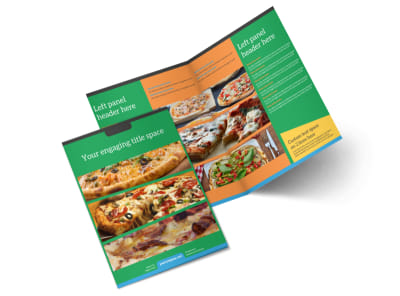 Yummy Pizza Restaurant Bi-Fold Brochure Template 2