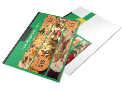 Yummy Pizza Restaurant Postcard Template 2