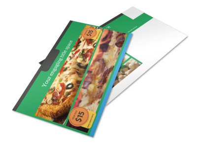 Yummy Pizza Restaurant Postcard Template