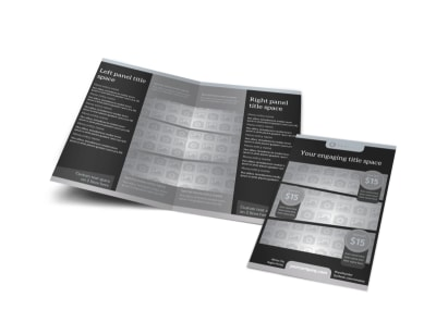 Generic Bi-Fold Brochure Template 10647