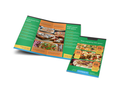 Yummy Pizza Restaurant Bi-Fold Brochure Template