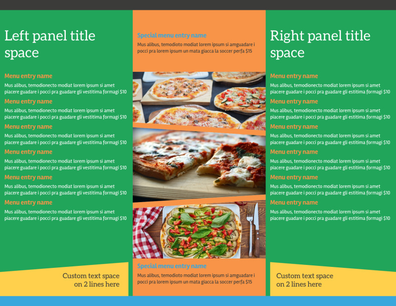 Yummy Pizza Restaurant Brochure Template Preview 3