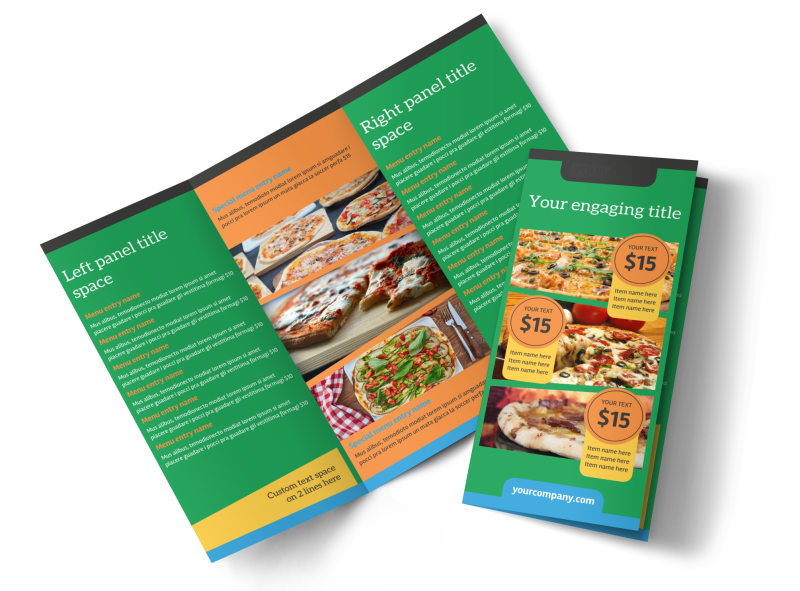 Yummy Pizza Restaurant Brochure Template Preview 1