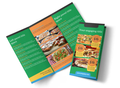 Yummy Pizza Restaurant Tri-Fold Brochure Template