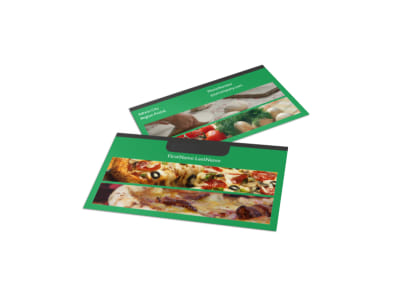 Yummy Pizza Restaurant Business Card Template