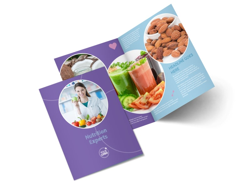 Health Nutrition Experts Bi-Fold Brochure Template 2
