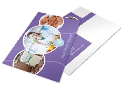 Health Nutrition Experts Postcard Template 2
