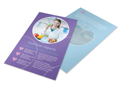 Health Nutrition Experts Flyer Template 3