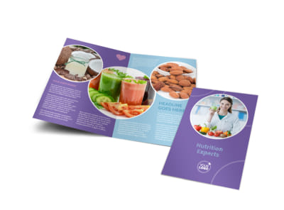 Health Nutrition Experts Bi-Fold Brochure Template