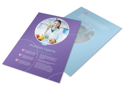 Health Nutrition Experts Flyer Template preview
