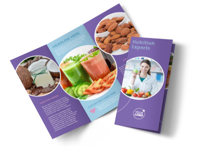 Health Nutrition Experts Tri-Fold Brochure Template