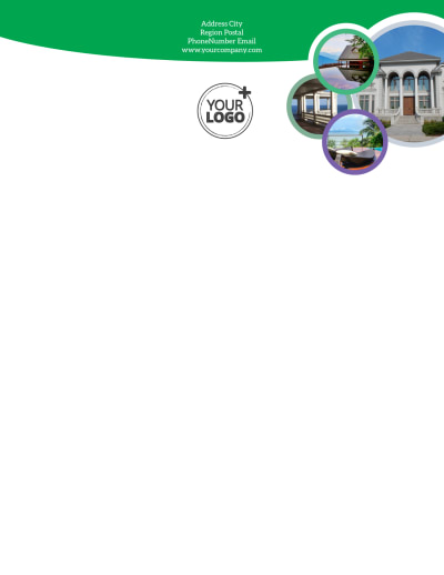 Luxury Real Estate Letterhead Template Preview 1