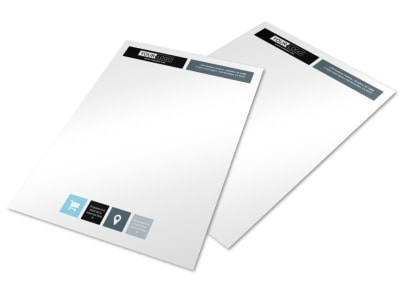 Urban Real Estate Letterhead Template preview