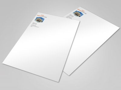 Property Management Letterhead Template preview