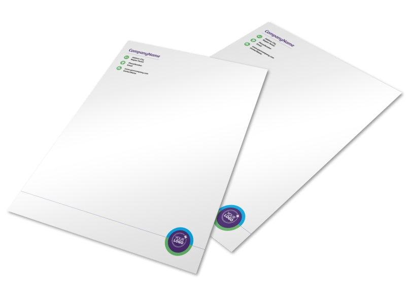 Medical Technology Letterhead Template Preview 3